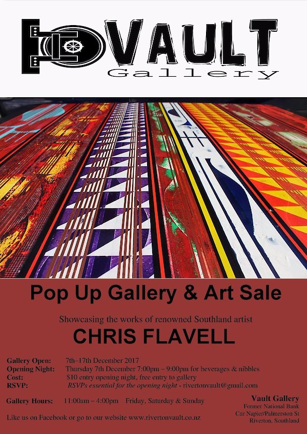 Chris Flavell Pop Up Gallery Flyer
