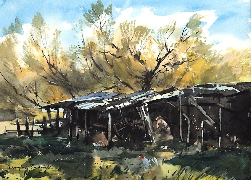 Old Farm Shed Watercolour