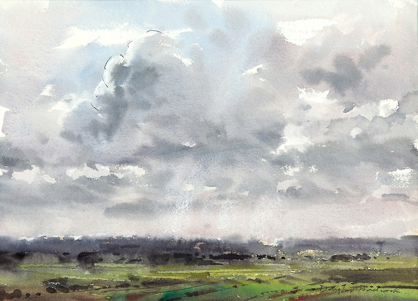 Sunshine & Rain Showers Southland Watercolour