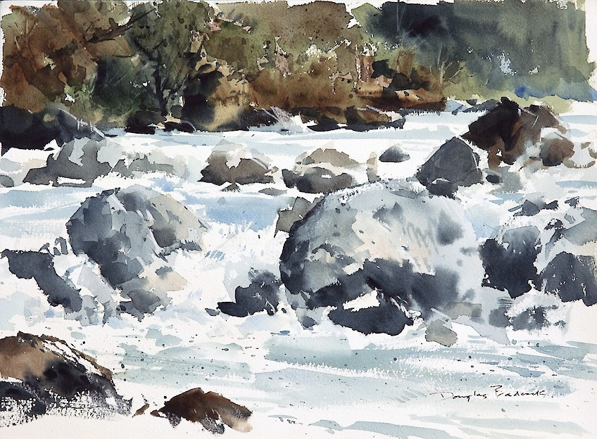 Rapids watercolour