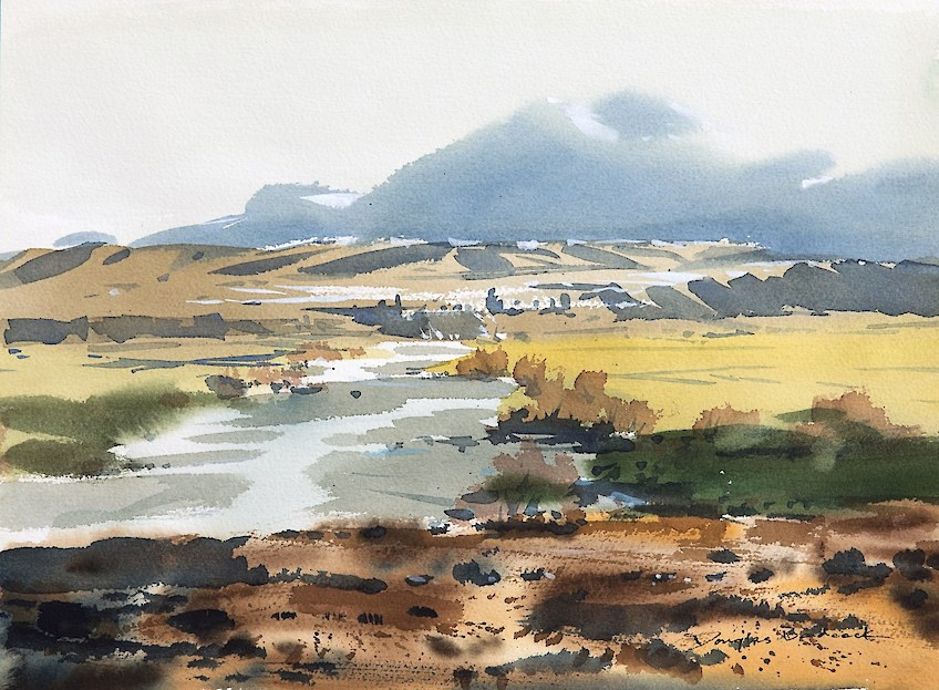 River Scene Watercolour